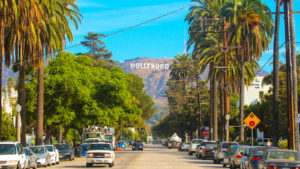 dlpn stock Hollywood sign district in Los Angeles