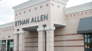 Ethan Allen store exterior and logo