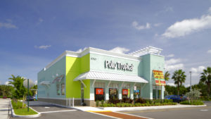 A photo of a Pollo Tropical restaurant, owned by Fiesta Restaurant Group (FRGI).