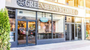 A photo of a Greenberry's Coffee store in Washington, D.C.