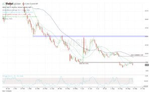 Daily chart of WISH stock