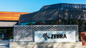 A photo of the sign for Zebra Technologies (ZBRA) outside of a building.