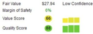Corsair stock score