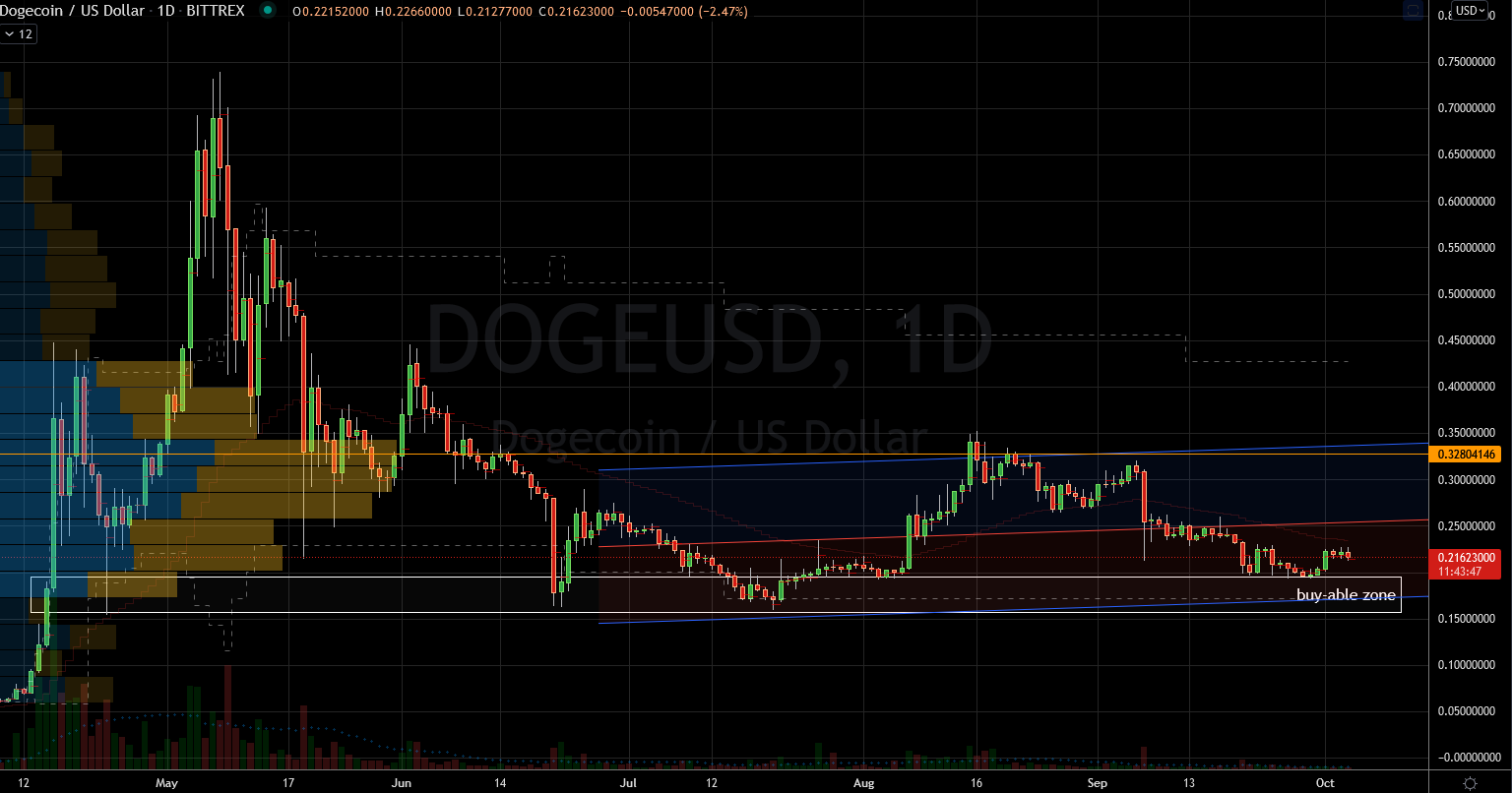 Crypto Coins: Doge (DOGE-USD) Stock Chart Showing Baseline